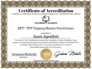 Anna AgrafiotiAccredited EFT TFT Master Practitioner 10 300x225 - Άννα Αγραφιώτη